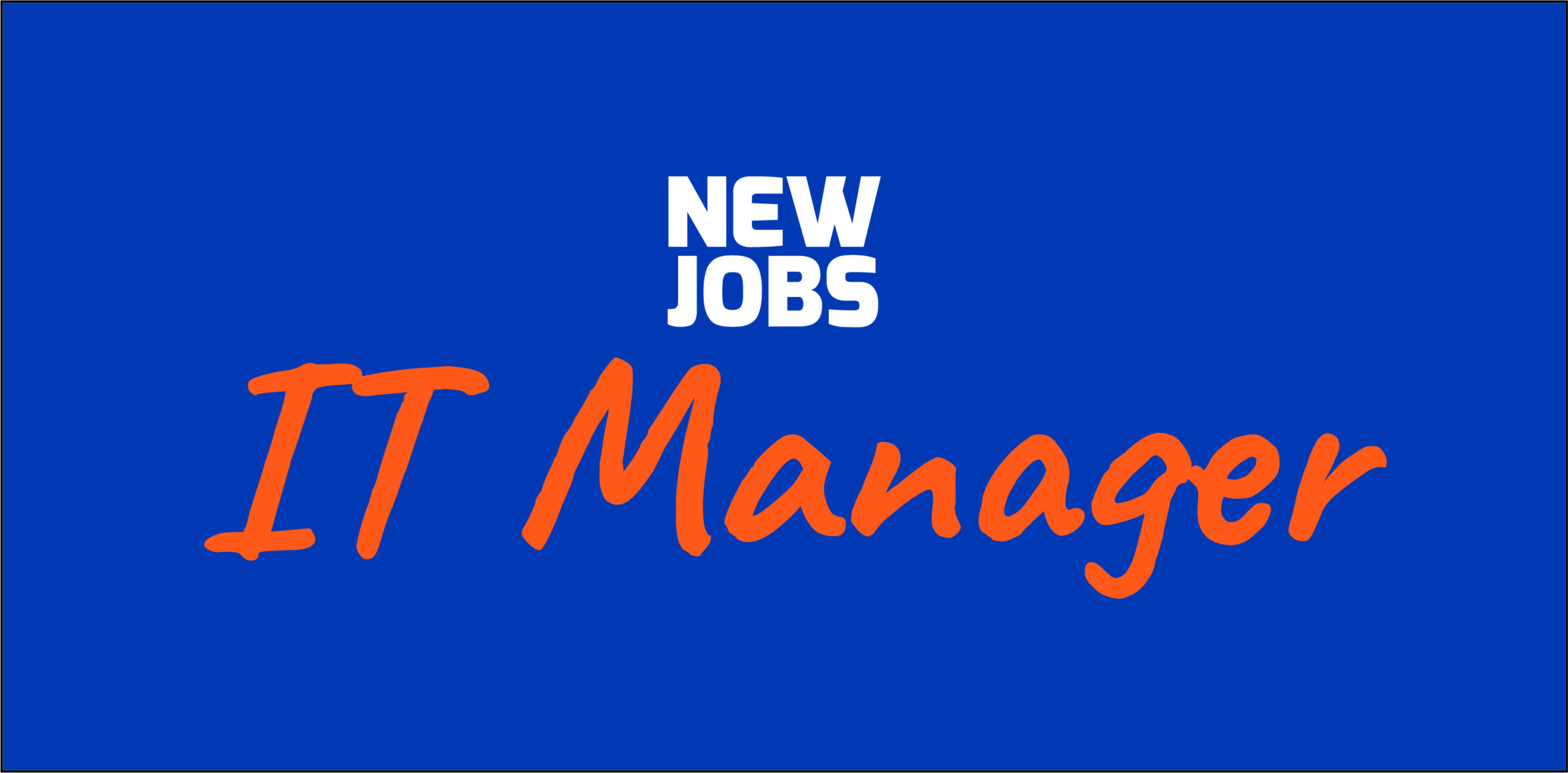 Vacature: IT Manager
